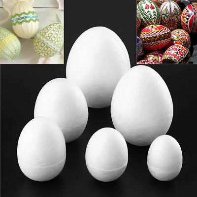 10Pcs Simulation Foam Eggs Graffiti Painted Exercise DIY Easter Egg Creative