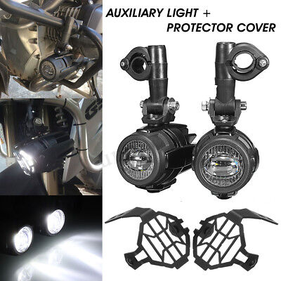 Auxiliary Fog Light Safety Driving Lamp & Protector Cover For BMW 1200GS F800GS
