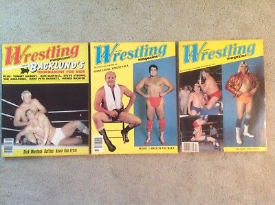 Lot of 3 classic Ring's Wrestling Magazines vintage 1980-1981, excellent cond.