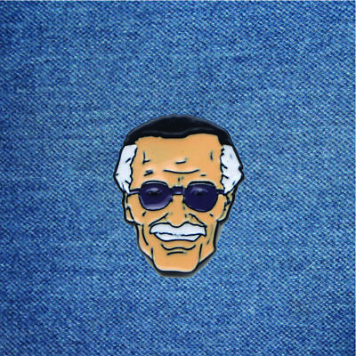 STAN LEE ENAMEL Pins and Brooches for Women Men Lapel Pin Backpack Bags  Badge