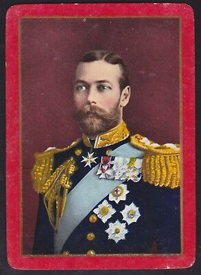 1 Single VINTAGE Playing/Swap Card US WIDE ROYAL DUKE OF YORK -  KING GEORGE V