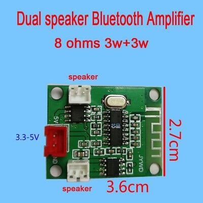 dc 3.3V-5V Dual speaker Bluetooth Audio power amplifier board 3W+3W amp Module