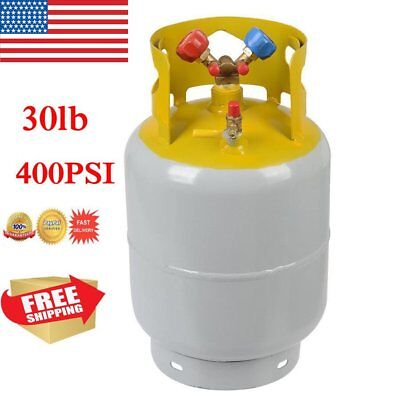 30lb Refrigerant Recovery Cylinder Steel 400 PSI Refrigerant Reclaim Tank MA