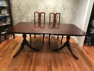 Duncan Phyfe Round Table With Drawer.Vintage Duncan Phyfe 1940 S Dining Table