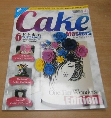 Cake Masters magazine #76 JAN 2019 One Tier Wonders, Football, Tuxedo, Art Deco