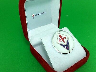 FIORENTINA SPILLA ESPOSITIVA PINS 25mm con custodia  *** unica e introvabile