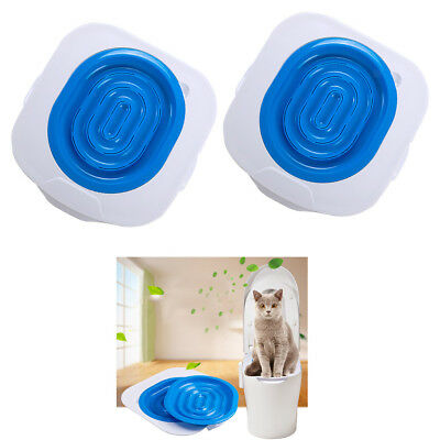 Blesiya 2x Pet Cat Toilet Seat Training System Teach Cat to Use the Toilet