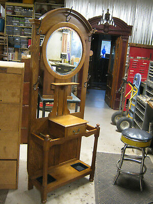 Oak Entry Hall hat and Umbrella Stand