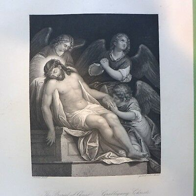 The Burial of Christ  , Kupferstich , England ,19. Jhdt.