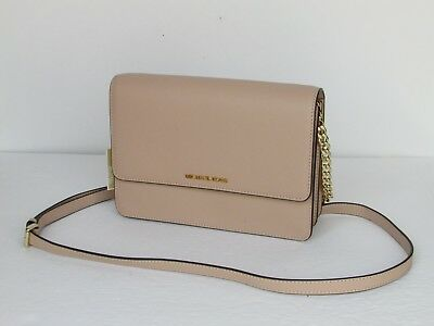 4944ee82a59e02 NEW Michael Kors Daniela Oyster Leather Large Gusset Crossbody Shoulder Bag