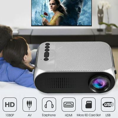Remote Control Multimedia Player Office Cinema Home Theater LED Projector