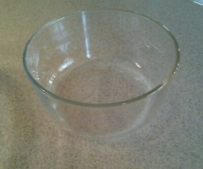 Vintage PYREX 7203 Clear Glass Round Bowl 7 Cup 1.75 Liter USA Oven Microwave