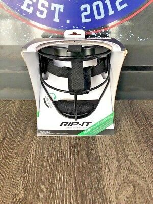 RIP-IT Defense Pro Softball Fielder's Mask - Protective Fastpitch -Black- Adult