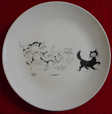 Assiette Plate Grande Taille Signee Albert Dubout