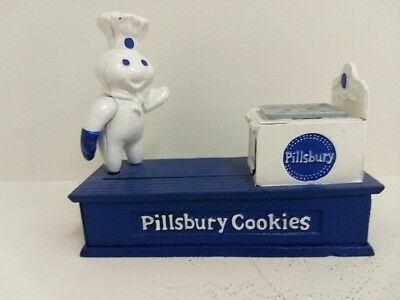 1998 Cast Iron Mechanical Bank Pillsbury Doughboy Limited Edition TPC Bank