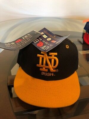 Notre Dame Fighting Irish 100% Wool New Era Fitted Hat 6 7/8 NWT Vintage