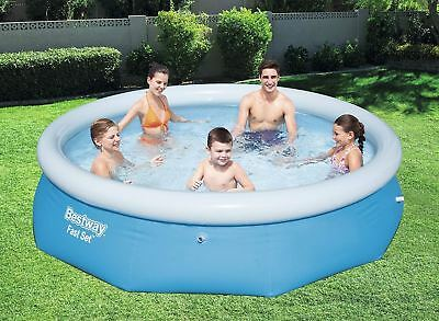 "Bestway Fast Set Round Inflatable Family Swimming Pool 10ftx30"" 3.66M x 76cm"