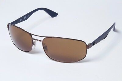 2203cee84f Ray-Ban Rectangle RB3527 012 73 Cooper Brown-Navy Brown Sunglasses 61mm