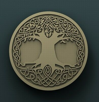 3d STL Model Relief for CNC Router  _ (0231) Tree of Life