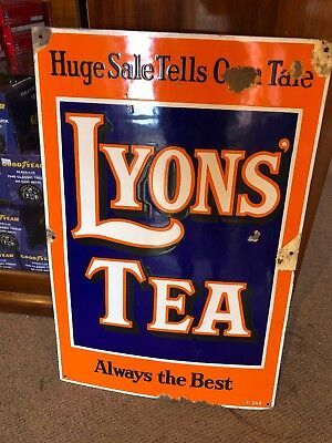 Lyon's Tea Genuine Porcelain Sign