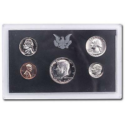 1971 US Mint Proof Set 5 Coin Set in box and coa