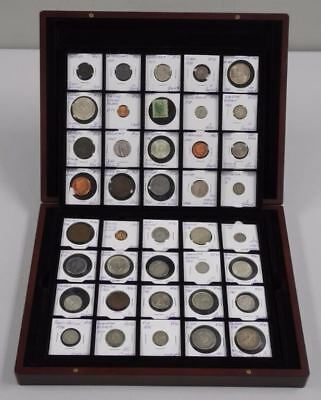 43 World Coins Identified in Mahogany Case & 1920's German Banknote Collection!