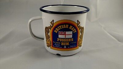 Pussers Rum Painkiller Recipe Enamel Coffee Cup Mug British Navy Bad Enamel Spot