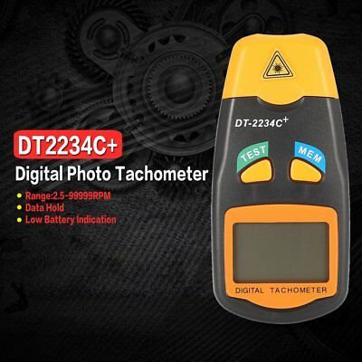 DT2234C+ LCD Digital Mini Non-contact Laser Photo Tachometer RPM Speed Tester WS