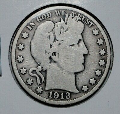 1909-S  Barber Half / Liberty 1/2 Dollar   50C   Silver Coin   full LIBERTY