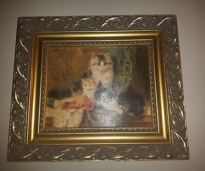 HENRIETTE RONNER-KNIP CAT with her Three Kittens Repro Print BRITT'S PRINTS