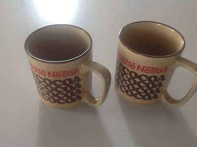 Vintage Nestle Rich N Creamy Hot Cocoa Mugs...Coffee/Tea Cups...Set of Two