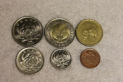 set of 6 different coins from Ghana