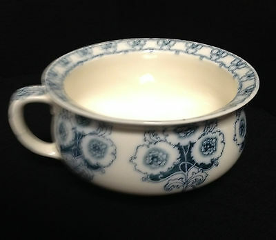 Furnivals Pottery Turin Blue White Pattern England Chamber Pot, marked,very rare