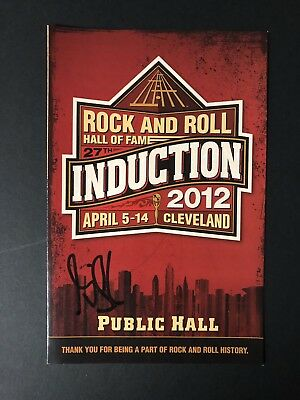 Rock and Roll Hall Of Fame 2012 Program Signed By Gilby Clark Guns N Roses PROOF