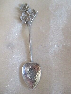 Australian Sterling Silver Hammered Spoon Geralton Wax Finial By Harris & Sons