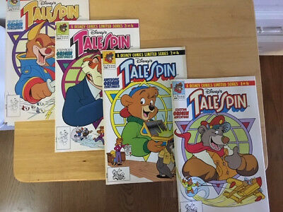 Disney TALE SPIN Comics AUTHOR AUTOGRAPHED Limited Series #1-4 NM w EXTRA TOY!