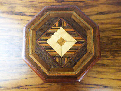 Vintage Wooden Mahogany Reuge Swiss Music Box Marquetry Wood Inlay Doyle 1985