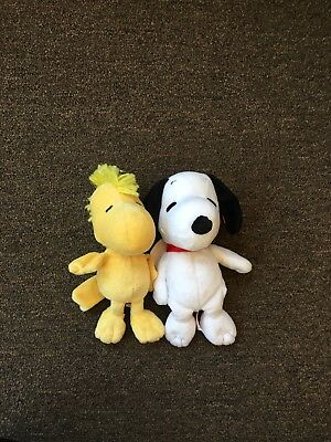 2 Piece Mini Plush Snoopy And Woodstock