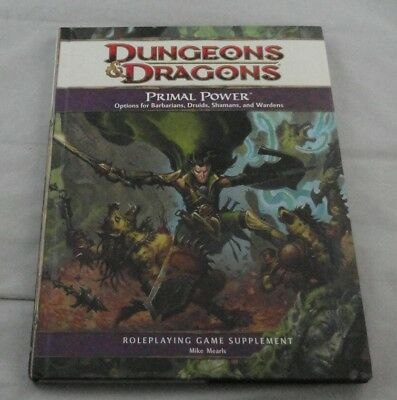Dungeons & Dragons 4th Ed Primal Power: Barbarians/Druids/Shamans/Wardens D&D