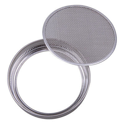 Strainer Sprouting Lid Silver for Jar Wide Mouth Mason Canning Stainless Steel