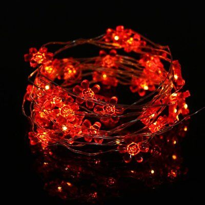 3m 30 LED Sun Flower String Light Battery Operated Copper Wire Decor Light #J
