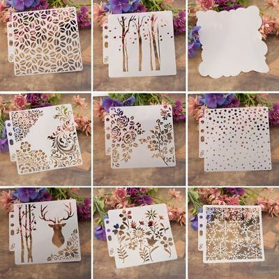 DIY Layering Stencils Template For Walls Painting Scrapbooking Stamping Craft WO