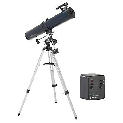 Celestron PowerSeeker 114EQ Telescope with Motor Drive with Astronomy Software