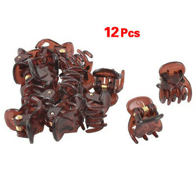 12x Mini Plastic Hair Claw Clamps Clips Grips Style Fashion Accessories