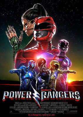 Power Rangers Movie Art Silk poster 8x12 24x36 24x43