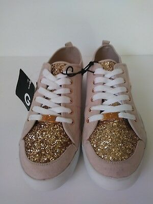 4beefc49ea1b G BY GUESS Mallory Womens Athletic Sneakers White glitter Sparkles ...