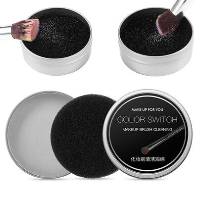 Makeup Brush Quick Fast Cleaner Eye Shadow Sponge Switch Color Dry Clean Box