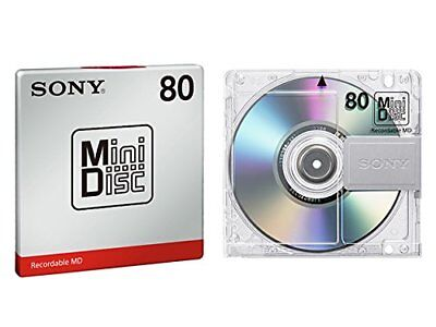 5 Disk Set!! New Sony MD Blank Minidisc 80 Minutes Recordable MD MDW80T from JPN