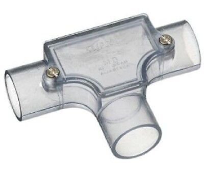 Clipsal CONDUIT PVC INSPECTION TEE Transparent *Australian Brand- 20mm Or 25mm