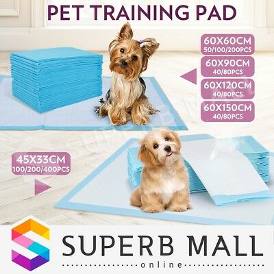 Multi Size Indoor Dogs Cat Pet Dog Puppy Training Pads Toilet Super Absorbent